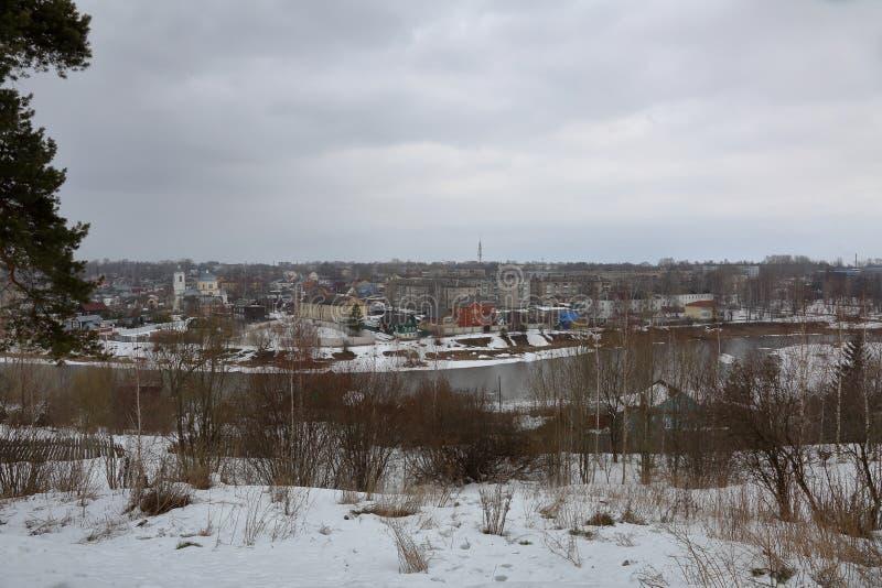 Opinião da cidade de Torzhok, Rússia imagem de stock royalty free