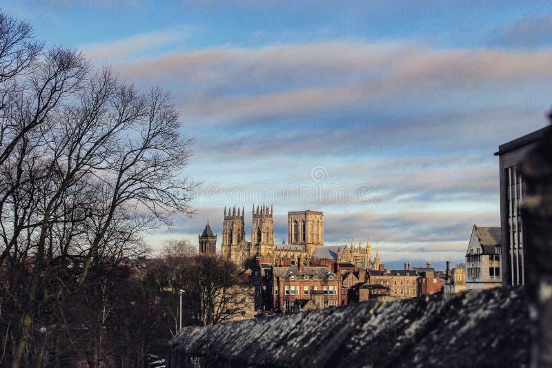Opinião da cidade de Yorkshire das paredes imagem de stock