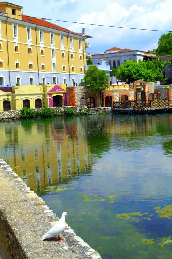 Opinião da cidade do drama, Grécia fotos de stock royalty free