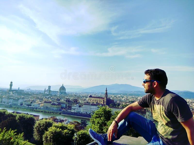 Opinião da cidade a Florença fotografia de stock royalty free