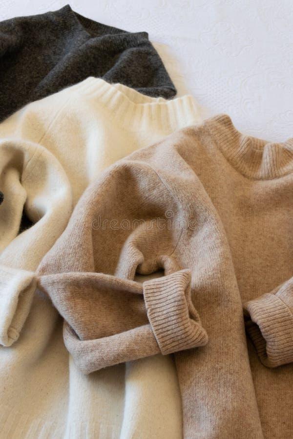 Opinião da colheita de camisetas das mulheres do inverno foto de stock royalty free