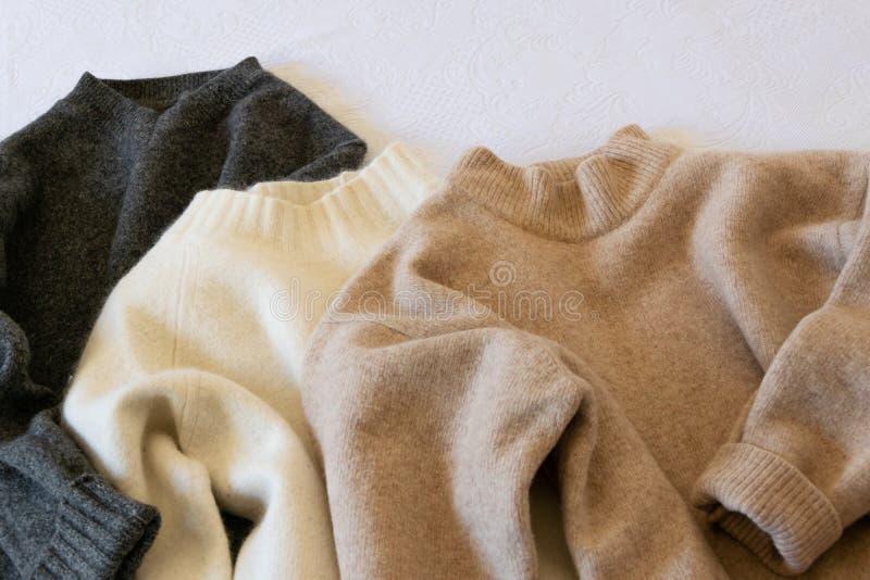 Opinião da colheita de camisetas das mulheres do inverno fotos de stock royalty free