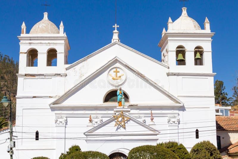 Opinião da fachada da igreja do sucre imagens de stock royalty free