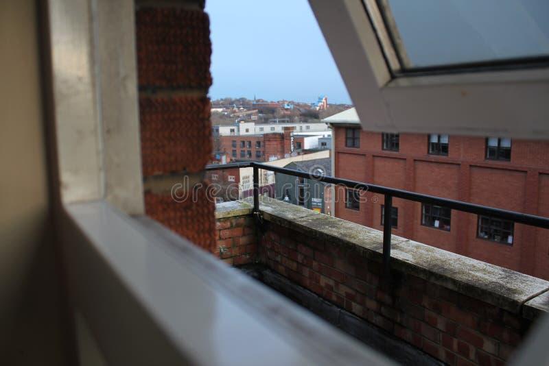 Opinião da janela de newcastle imagem de stock
