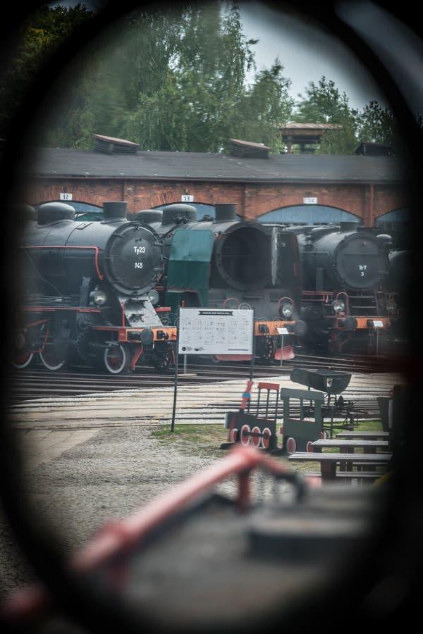 Opinião da janela do transporte das locomotivas de vapor fotografia de stock royalty free