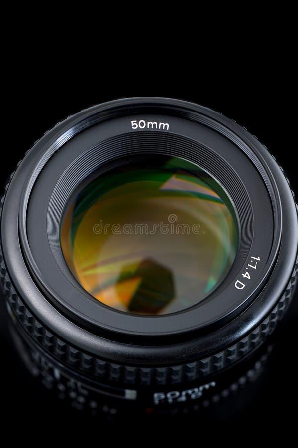 opinião da lente de 50mm da parte superior.