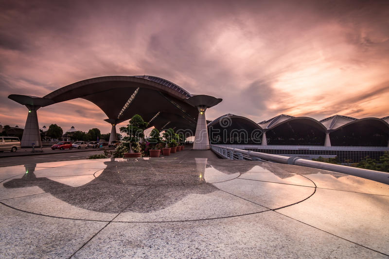 Opinião da manhã de Kuala Lumpur International Airport. foto de stock royalty free