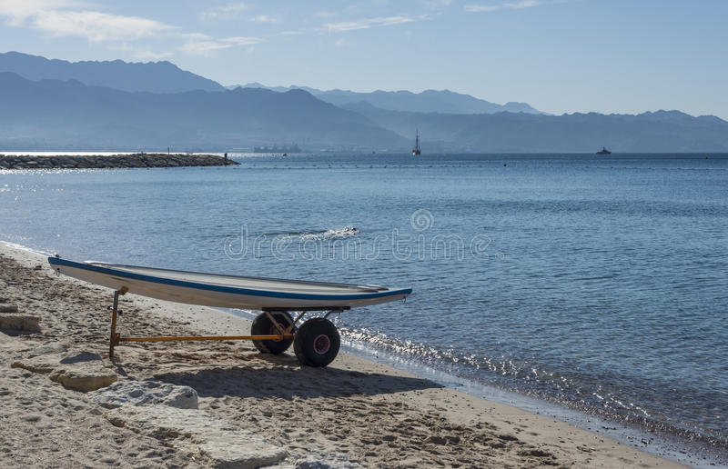 Opinião da manhã no Golfo de Aqaba perto de Eilat fotos de stock