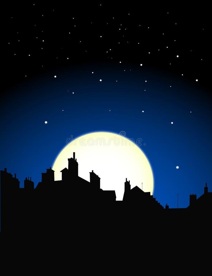 Opinião da noite ilustração royalty free