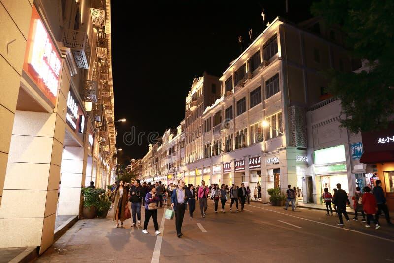 A opinião da noite da cidade do zhonghuacheng imagens de stock