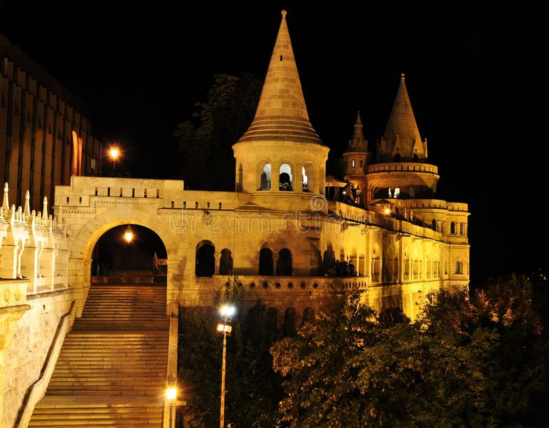 Opinião da noite de Budapest imagem de stock royalty free