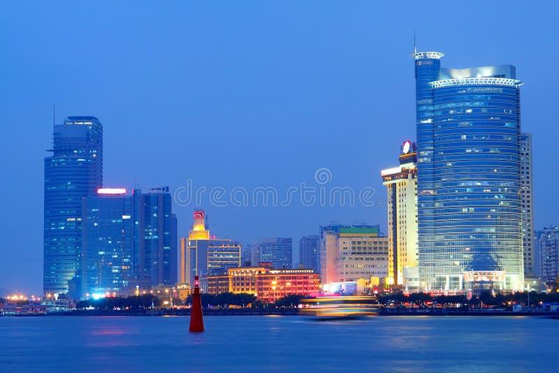 Opinião da noite de China Xiamen imagens de stock royalty free