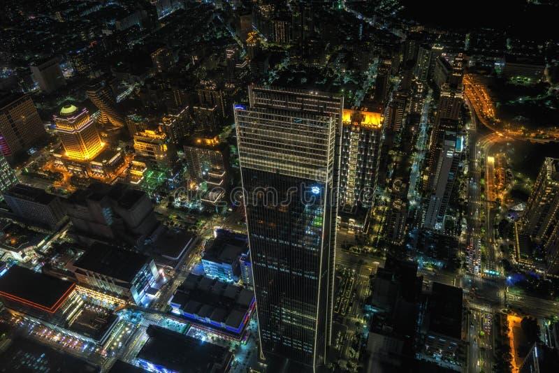 Opinião da noite de Taipei 101 fotos de stock royalty free