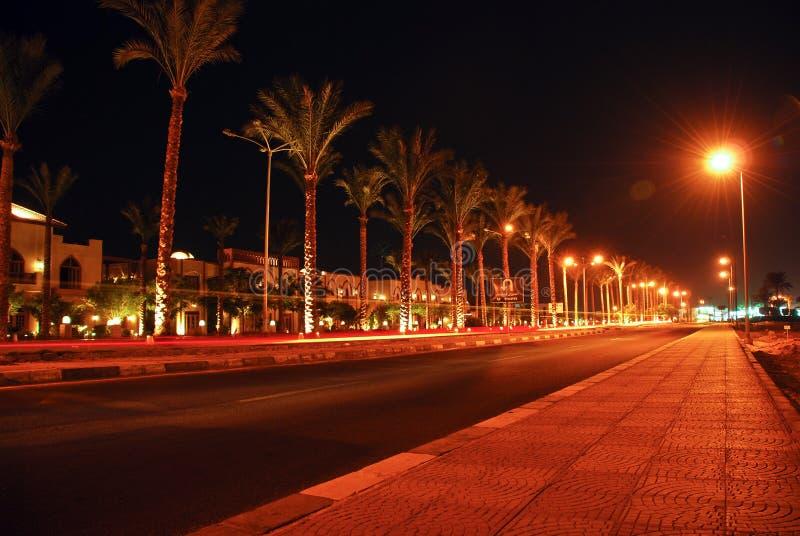 Opinião da noite do Sharm el-Sheikh imagens de stock