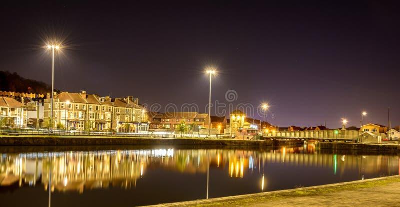 Opinião da noite sobre a bacia Bristol C de Cumberland imagem de stock royalty free