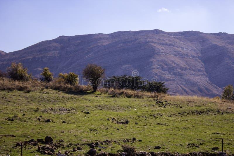 Opinião da paisagem ao Qurnat como o pico o mais alto de Sawda - de Lebanons, Líbano imagem de stock royalty free