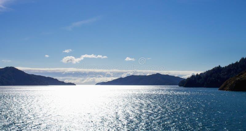 A opinião da paisagem do Marlborough soa fotos de stock