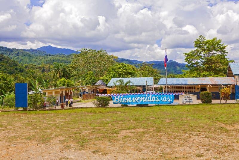Opinião da paisagem perto de Santa Fe em Panamá fotos de stock