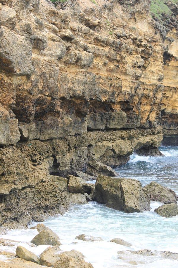 Opinião da pedra de Lombok fotos de stock