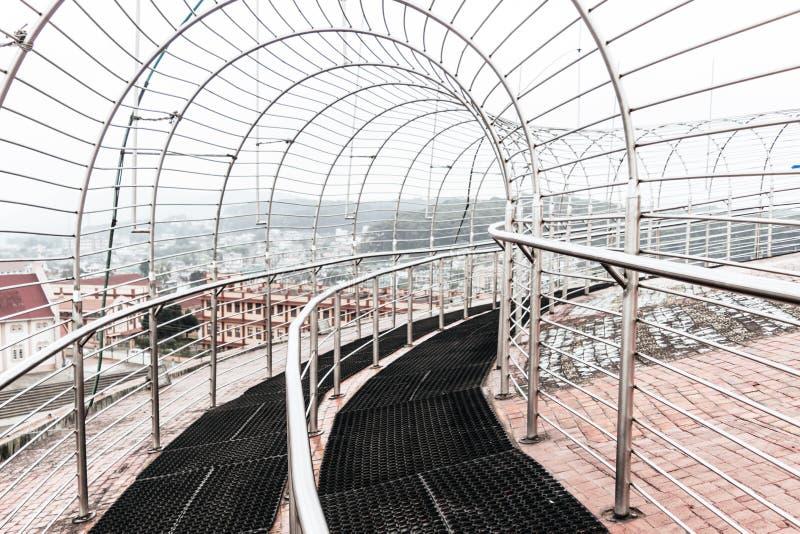 A opinião da porta da entrada Jawaharlal Nehru Stadium Shillong, é um estádio de futebol em Shillong, Meghalaya, Índia principalm imagem de stock