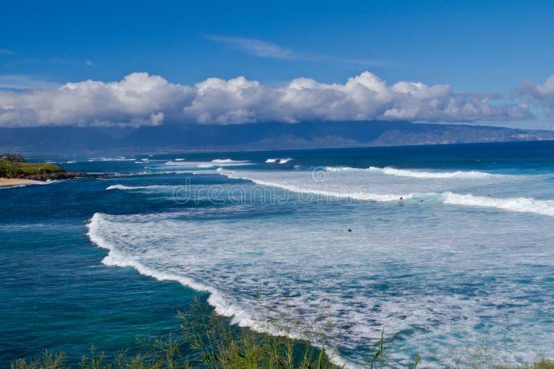 Opinião da praia de Maui imagens de stock