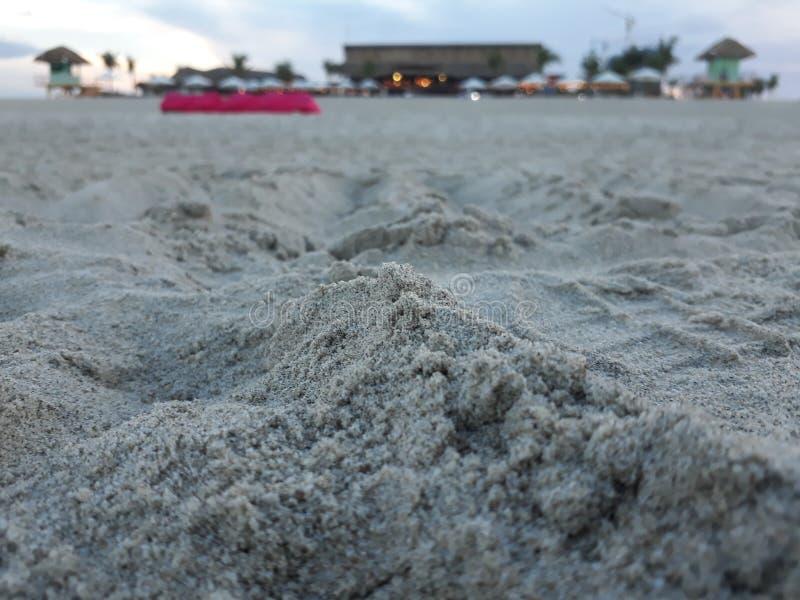 Opinião da praia em Danang foto de stock