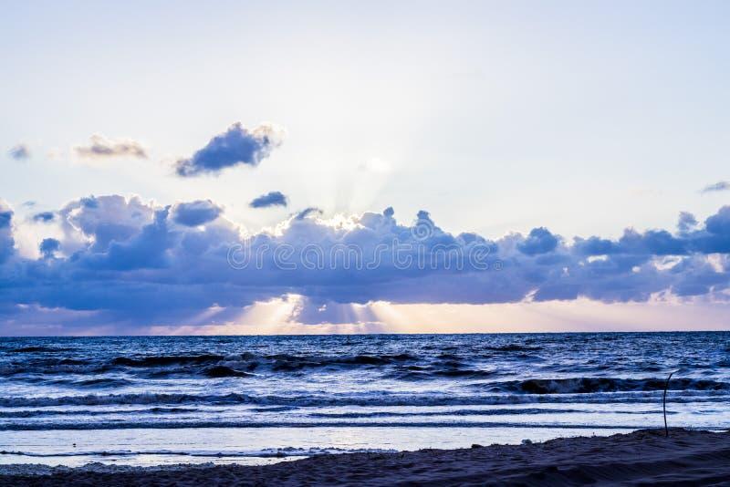 Opinião da praia no texel, Países Baixos fotografia de stock