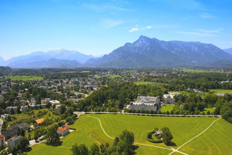 Opinião da província de Salzburg imagem de stock royalty free