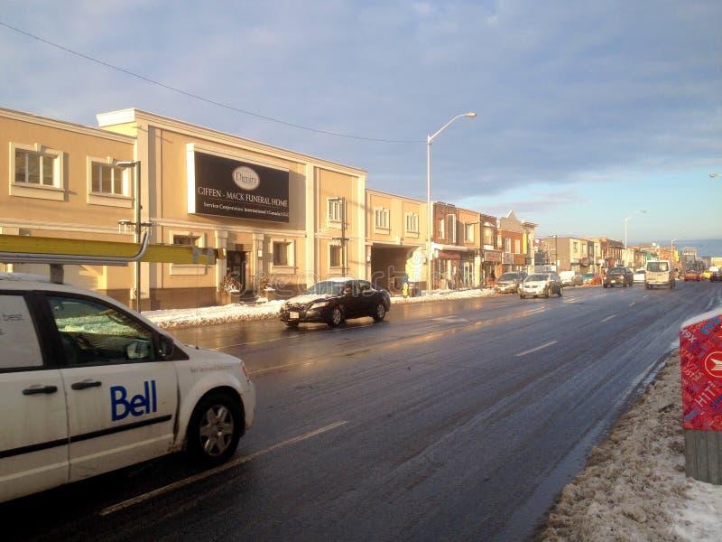 Opinião da rua da cidade de Toronto imagens de stock