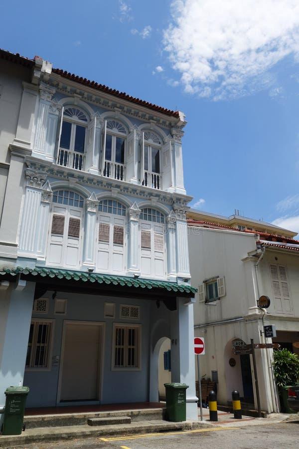 Opinião da rua da rua de Amoy em Singapura imagem de stock royalty free