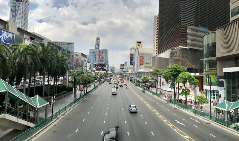 Opinião da rua de Banguecoque imagem de stock royalty free