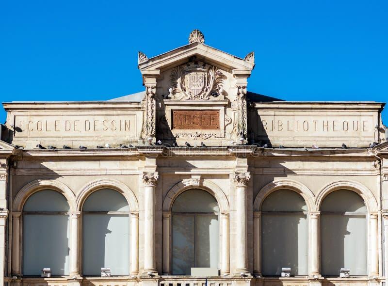 Opinião da rua de Carcassonne, France. Verão. foto de stock royalty free