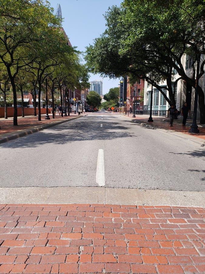 Opinião da rua de Dallas texas fotos de stock