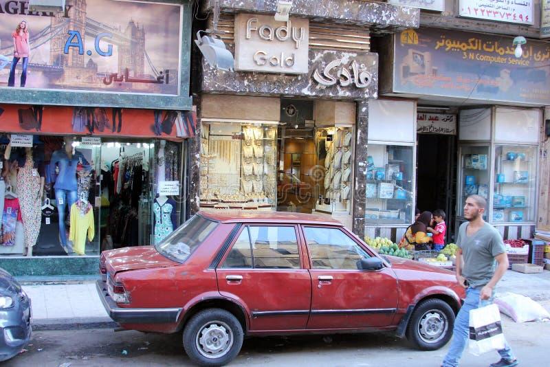 Opinião da rua de Egito o Cairo imagens de stock royalty free