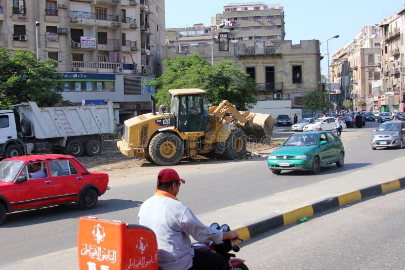 Opinião da rua de Egito o Cairo fotografia de stock