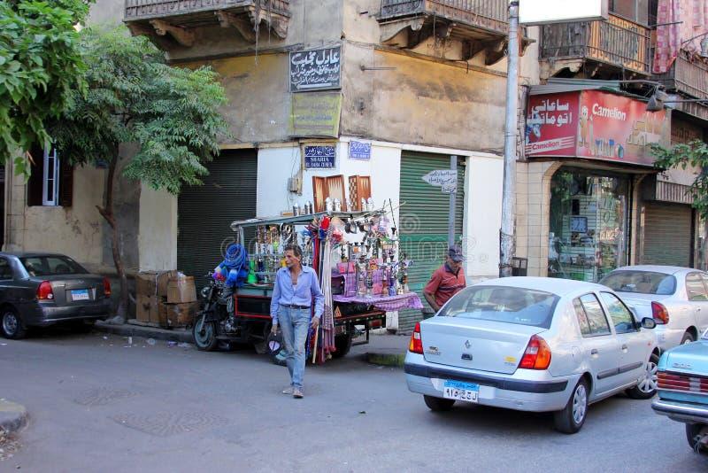 Opinião da rua de Egito o Cairo imagens de stock