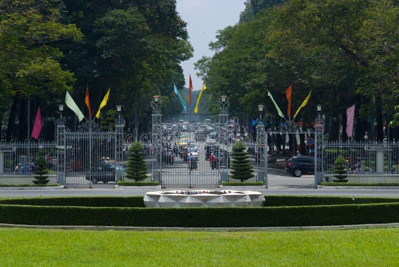 Opinião da rua de Ho Chi Minh City imagem de stock