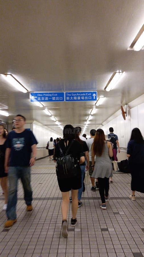 Opinião da rua de Hong Kong imagem de stock royalty free