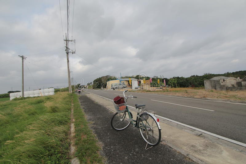 Opinião da rua de Ishigaki em Japão fotos de stock royalty free