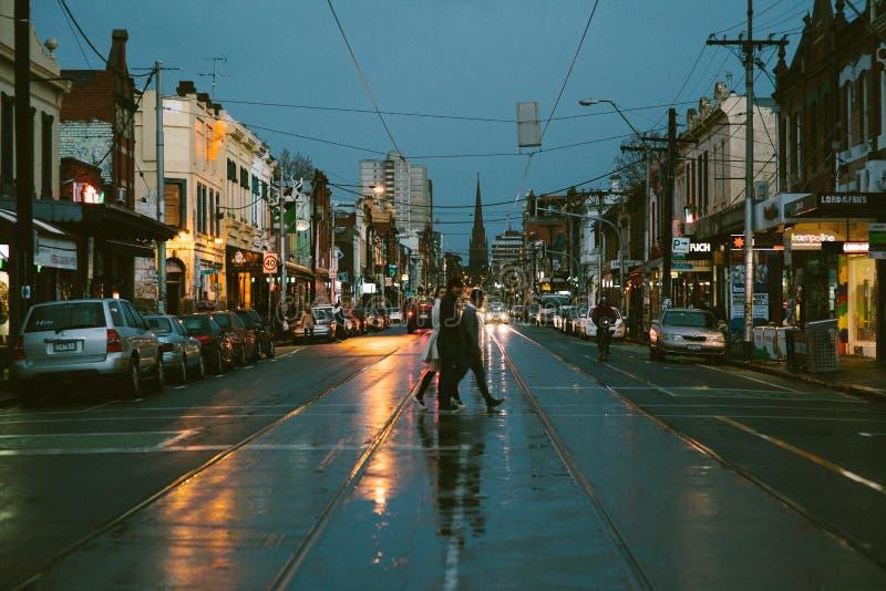 Download Opinião Da Rua De Melbourne Fotografia Editorial - Imagem de alvorecer, dusk: 26523562