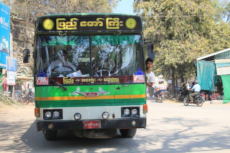 Opinião da rua de Myanmar Yangon fotos de stock