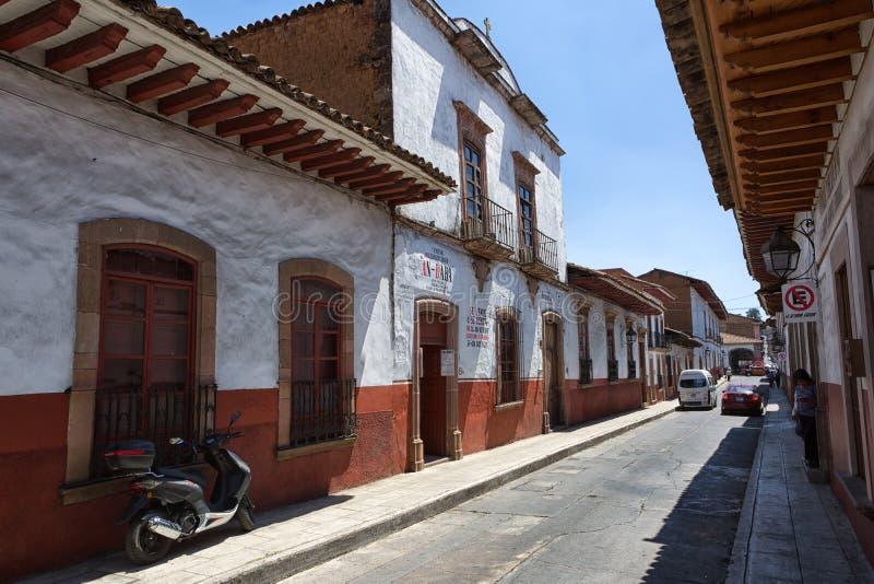 Opinião da rua de Patzcuaro Michoacan imagem de stock royalty free