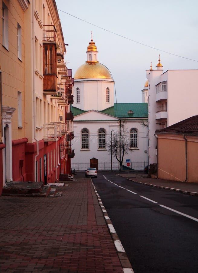 Opinião da rua de Polotsk fotos de stock royalty free