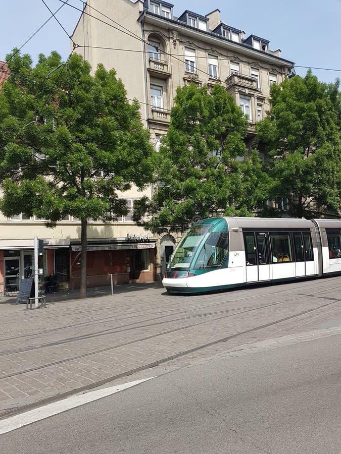 Opinião da rua de Strasbourg imagem de stock