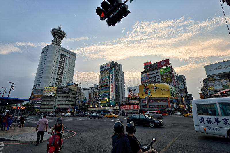 Opinião da rua de Taichung foto de stock