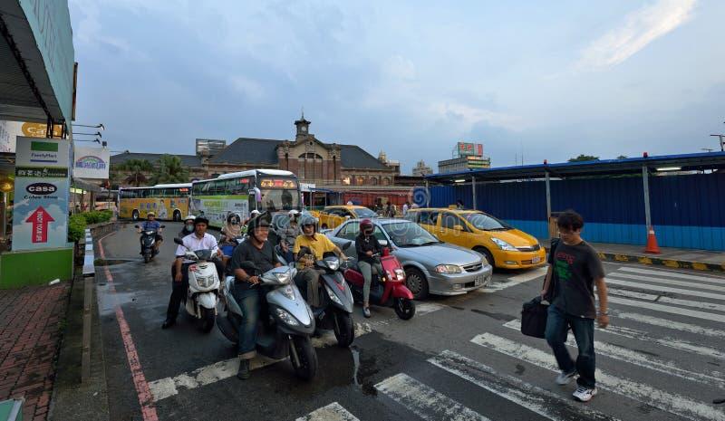 Opinião da rua de Taichung imagem de stock royalty free