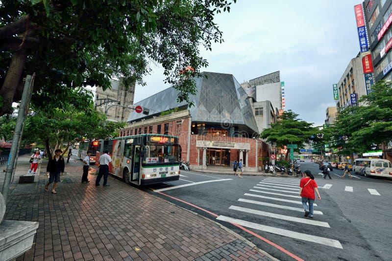 Opinião da rua de Taichung fotos de stock