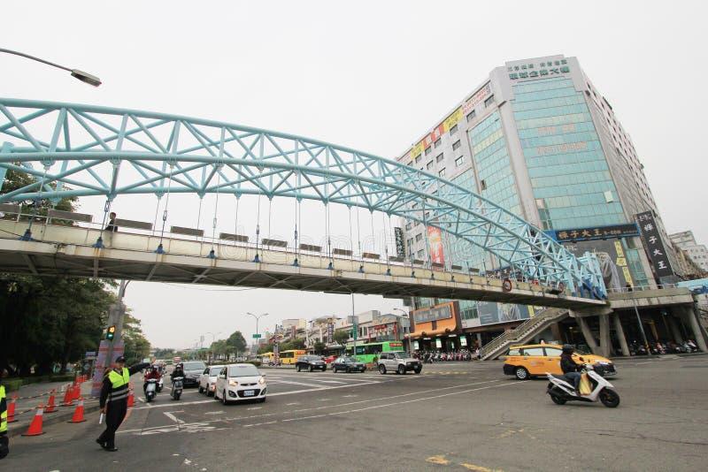 Opinião da rua de Taichung imagens de stock