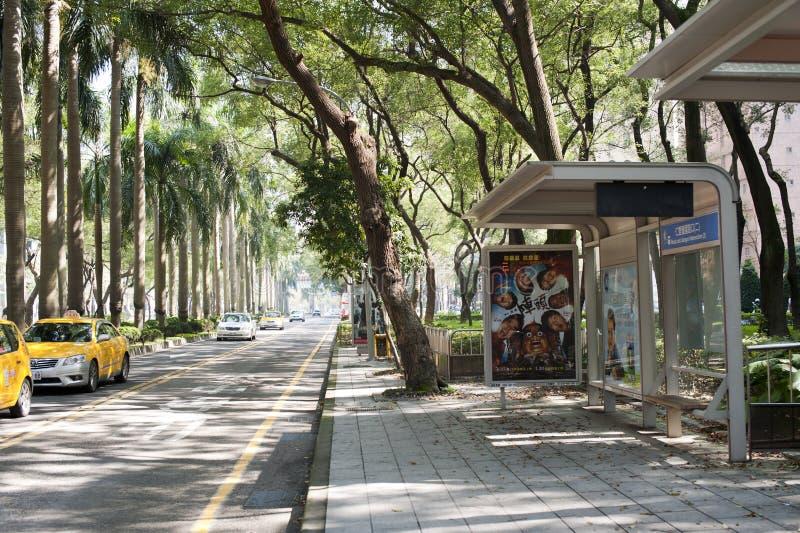 Opinião da rua de Taipei imagens de stock