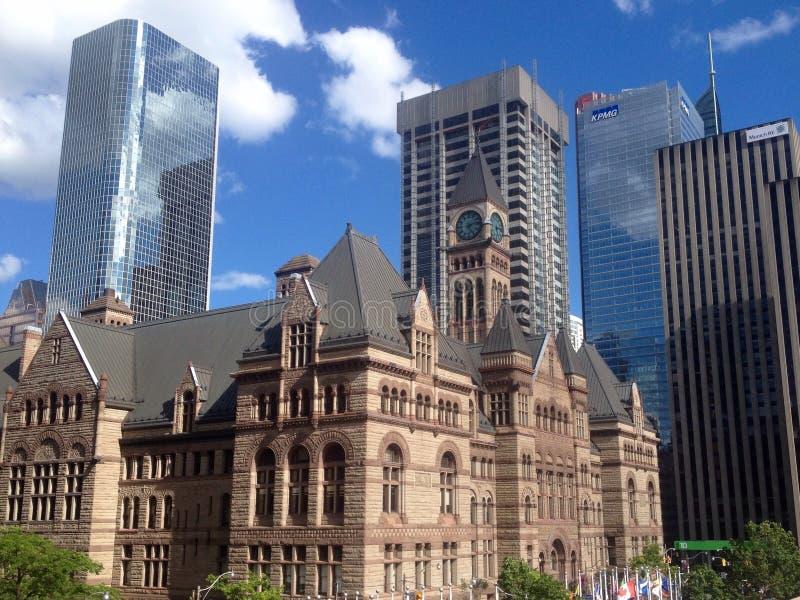 Opinião da rua de Toronto fotografia de stock royalty free